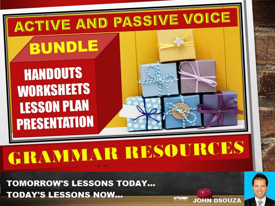 ACTIVE AND PASSIVE VOICE: BUNDLE