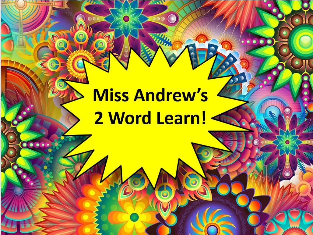 Miss Andrew's One Word Learn! Vocabulary Starter PowerPoints