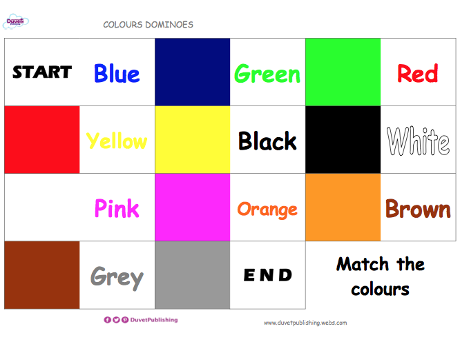 Colours - Dominoes Matching game