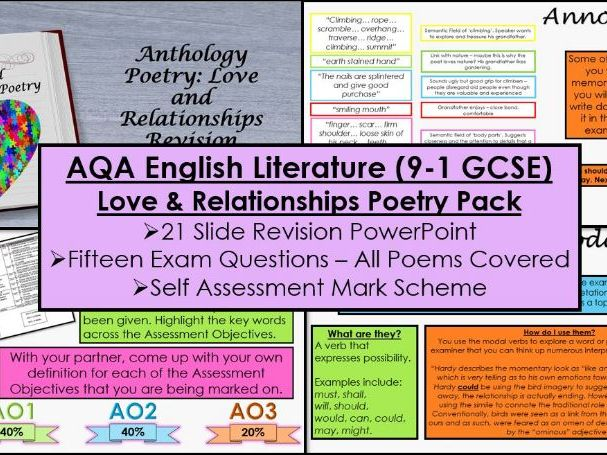 Love and Relationships Poetry Revision