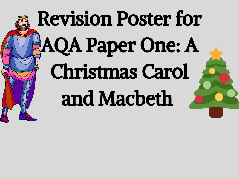 Revision Poster: AQA Literature Paper One, A Christmas Carol and Macbeth