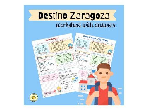 Destino Zaragoza. Un intercambio escolar. Futuro. GCSE Spanish school exchange trip. The near future