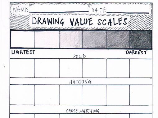 Drawing Value Scales | Work Sheet