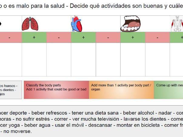 GCSE Spanish - La salud y los hábitos (Revision)