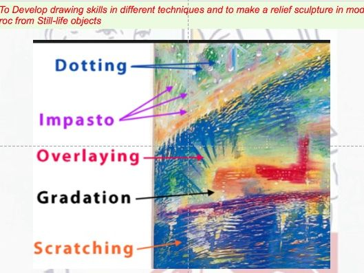 KS3 Still-life Drawing- mixed media Composition project leading to mod-roc detail Lesson 5