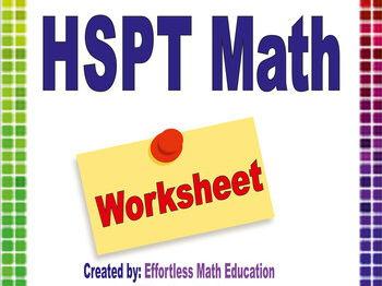 HSPT Math Worksheets