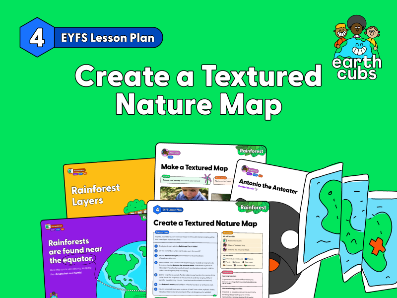 Rainforest learning, Create a Textured Nature Map: EYFS Lesson Plan