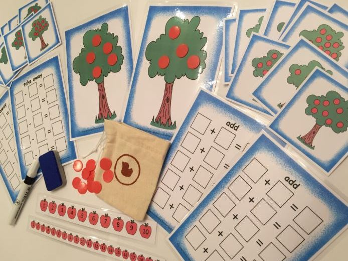 Apples in Trees Number Bonds Addition Subtraction Fun Pack