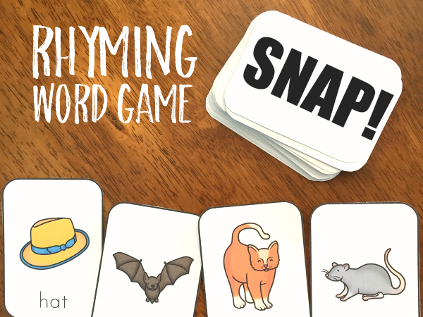 Rhyming Word SNAP Cards