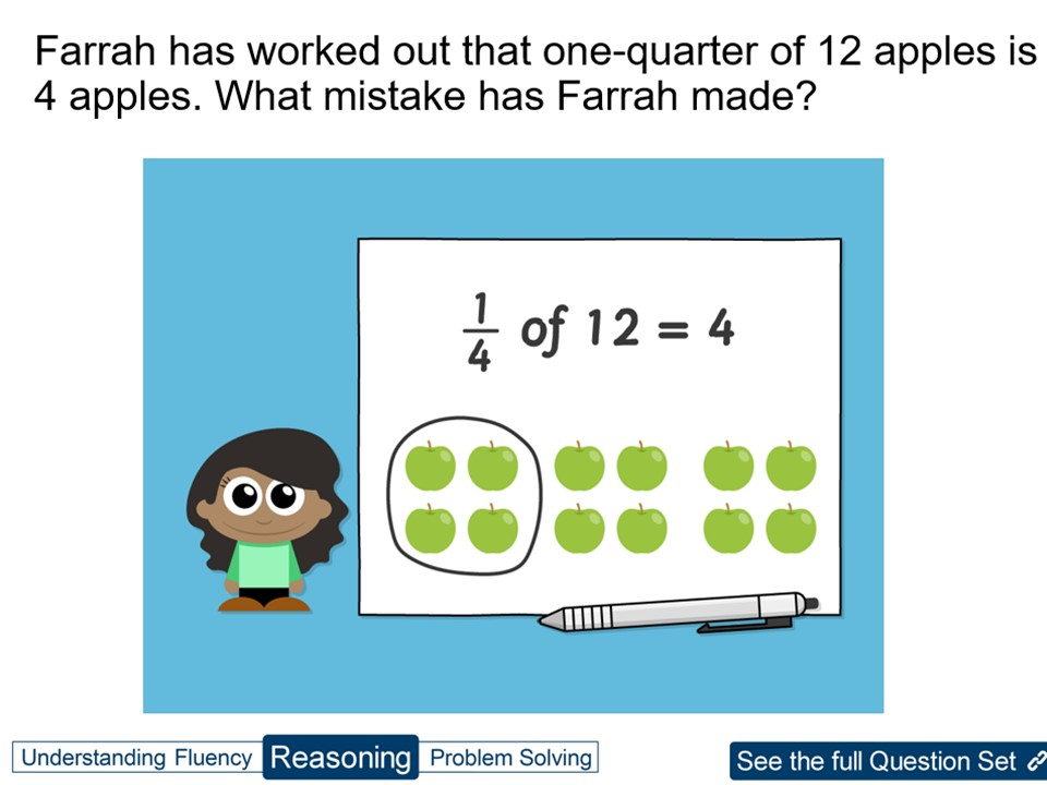 Year 3 Find Fractions of a Set of Objects