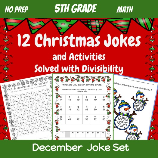 5th grade math division and divisibility christmas jokes and activities by thesaylers. Black Bedroom Furniture Sets. Home Design Ideas