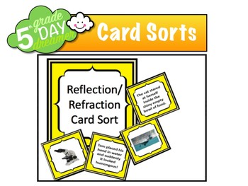 Reflection refraction card sort