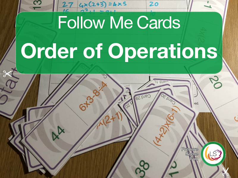 Order of Operations | Follow Me Cards