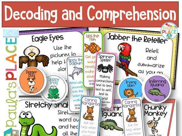 Decoding and Comprehension Reading Strategy Pack