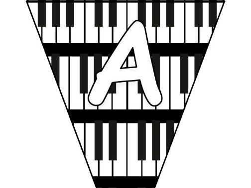 image regarding Printable Piano Keys identify Printable bunting clearly show bulletin letters figures and further more: Tunes Piano Keys