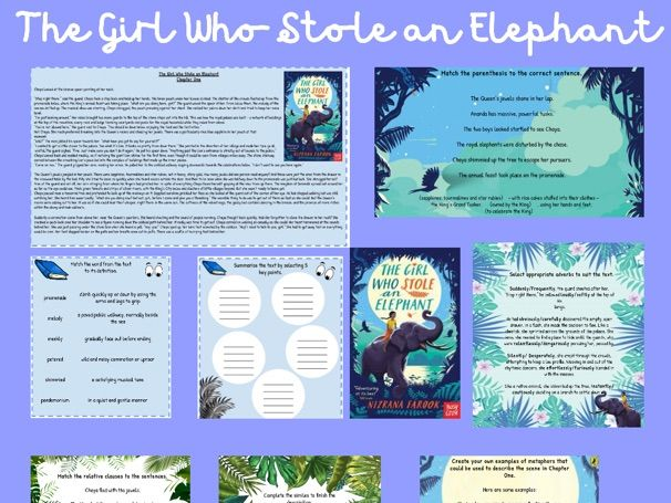 The Girl Who Stole an Elephant - Y6 Resources