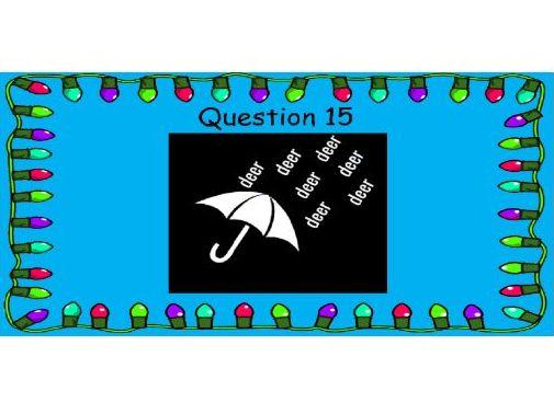 An Awesome Christmas Quiz - Christmas Dingbats (3)