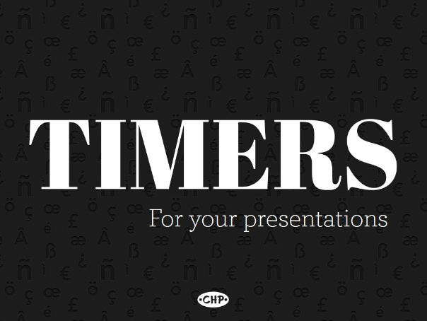 Timers for your presentations