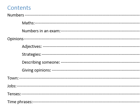 GCSE Revision Booklet