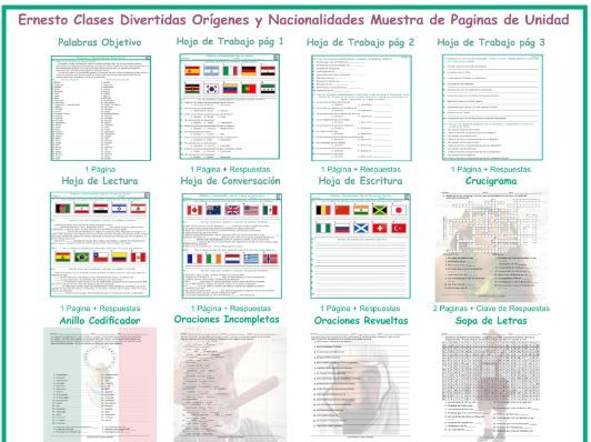 Origins and Nationalities Spanish Unit Bundle