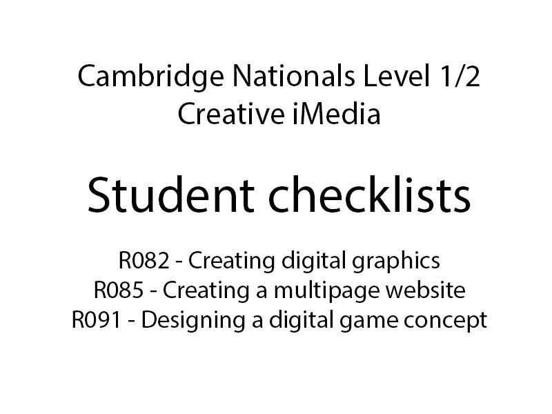 Creative iMedia Tasklists:R082,R085,R091