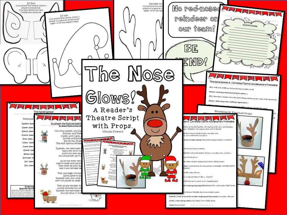The Nose Glows! A Christmas Reader's Theatre with Props.