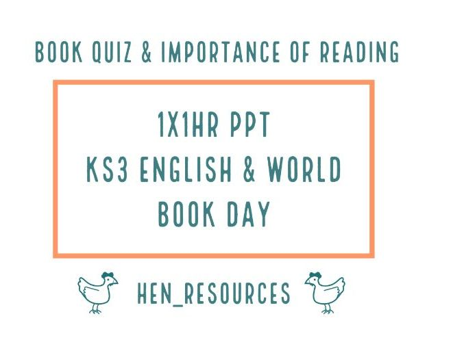 Book Quiz for Key Stage 3