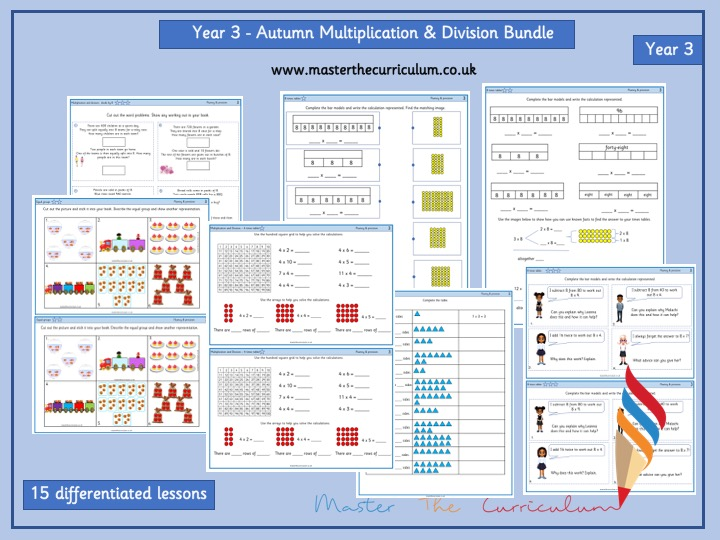 Year 3 Autumn 1 Block 3 -White Rose Multiplication and Division Bundle