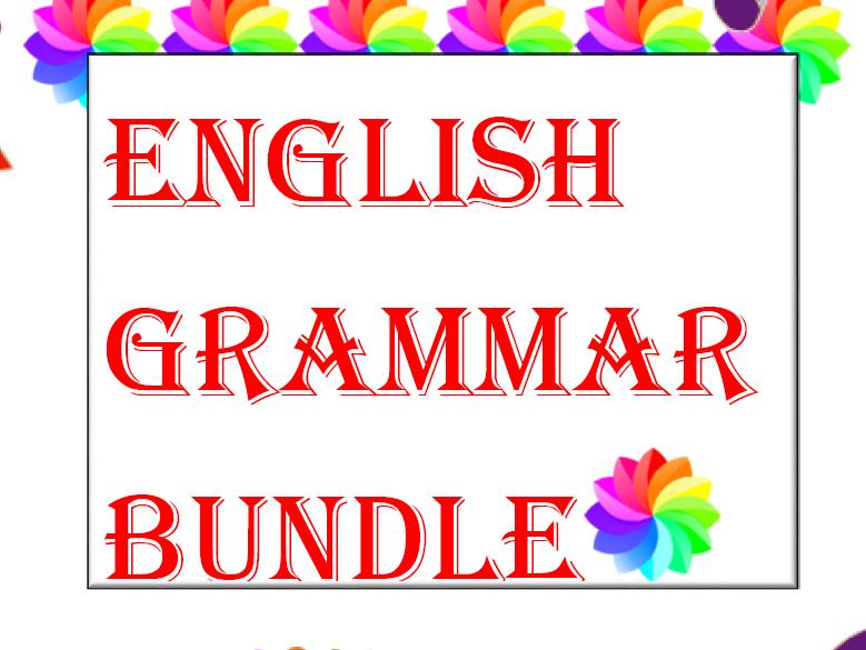 ENGLISH GRAMMAR BUNDLE for ESL & ELL
