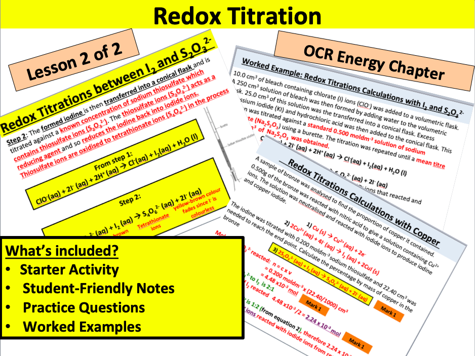 OCR Redox Titrations (Part 2)