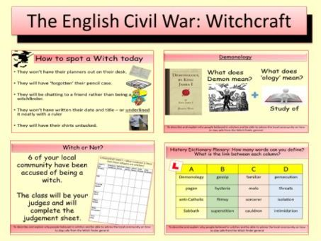 The English Civil War: Witches and Witchcraft