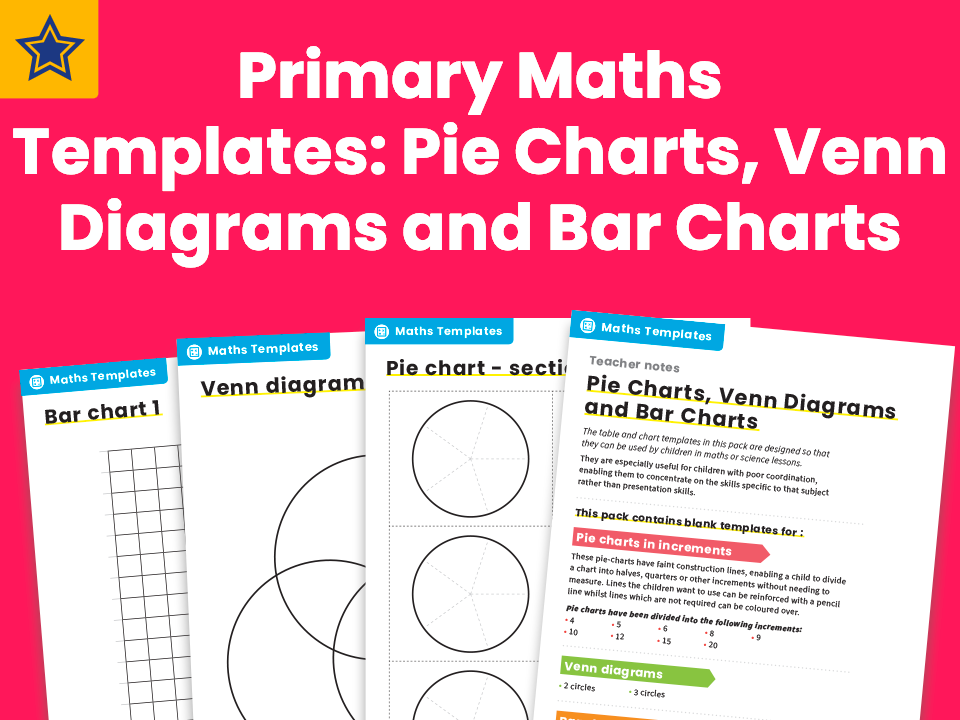 Primary Maths Templates: Pie Charts, Venn Diagrams and Bar ...