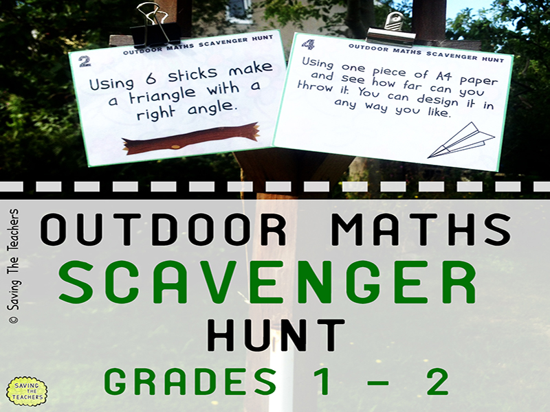 Math Scavenger Hunt Activity: Years 2 -3