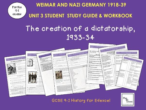 Edexcel 9-1 GCSE - Weimar and Nazi Germany Student Revision Guide UNIT 3