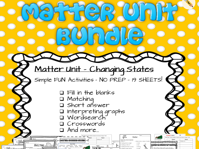 Matter Unit Bundle - Changing States
