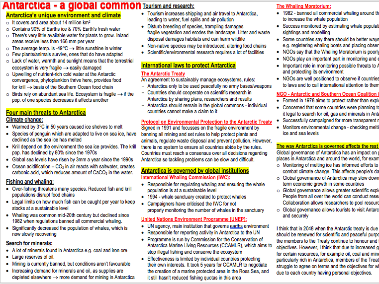 AQA A-level Geography Physical and Human case studies