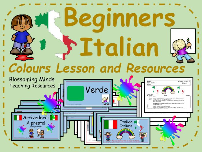 Italian Lesson and Resources : Colours