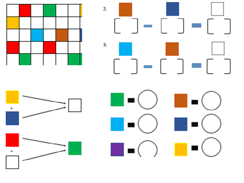 Color Block Grid (Analytical & Logical thinking Pre-k, K Math)