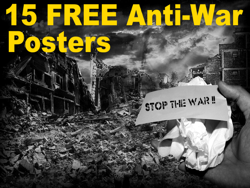15 FREE Say No To War Posters! Great slogans to discuss and share in the Keystage 2 or Keystage 3.
