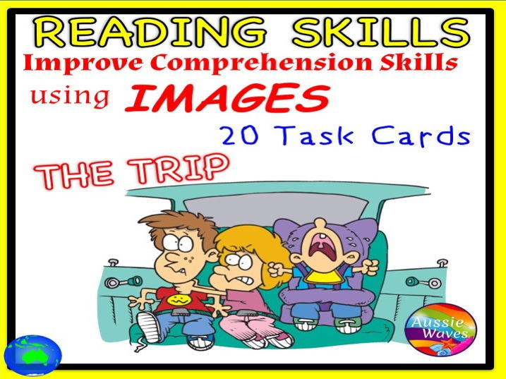 """VISUAL LITERACY Improve Reading Comprehension & Connection Skill using Images VISUAL TEXT """"THE TRIP"""""""