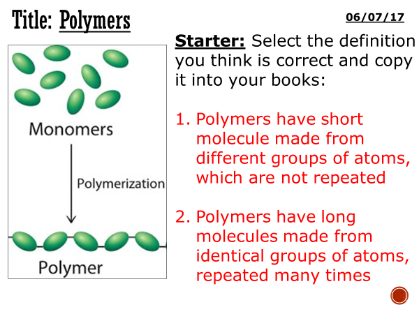 How to make slime language activities differentiated by polymers complete lesson ks3 ccuart Gallery