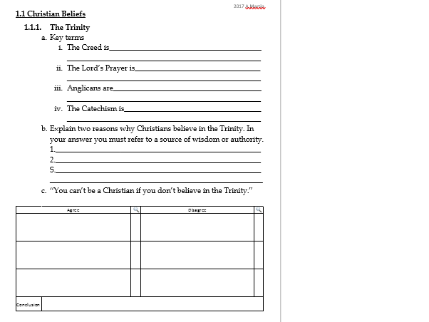 The Sacraments - Revision work sheet or plenary task- EDEXCEL GCSE RS B Christianity