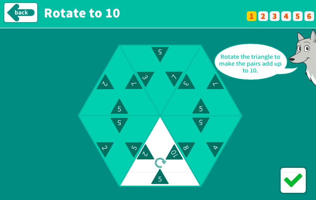 Number Bonds to 10 - Rotate to 10 Interactive Game - KS1 Number