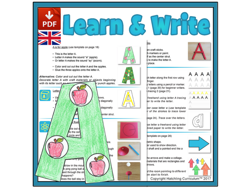 Learn & Write the Alphabet: 26 Complete Curriculum Lessons - UK Version (A4)