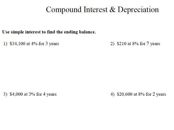 GCSE Maths Revision : Compound Interest and Depreciation