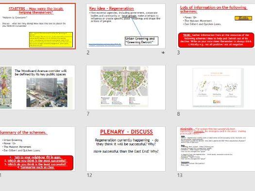 AQA A-LEVEL Changing Places - Detroit Place Study L6 Rebranding (Lesson + Resources)