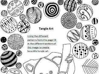 Tangle Art Activity - Koala Bear