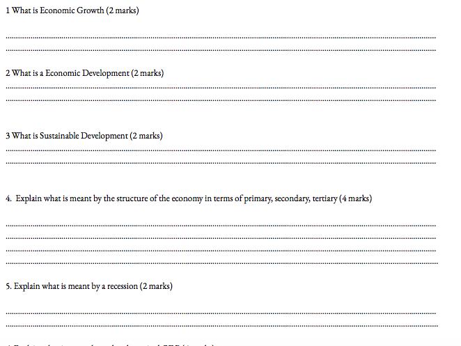 Macroeconomics OCR A level past paper booklet
