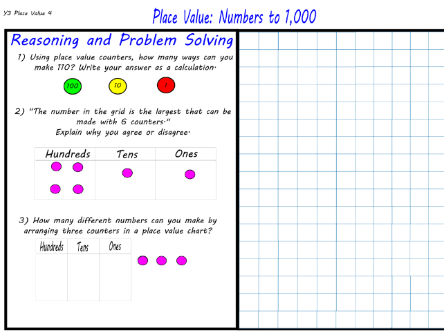 Year 3 - Place Value: Numbers to 1,000 - Maths Mastery
