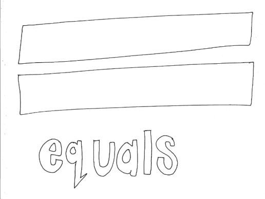 Equals: Mathematical Symbols Colouring Page